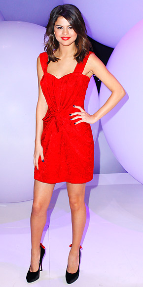 selena gomez red dress. In A Red Dolce amp; Gabbana Dress