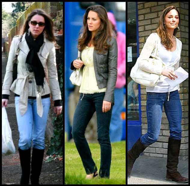 kate middleton boots. knee high oots creates a