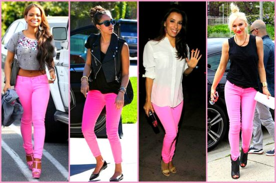Colored Pink Hot Jeans
