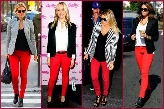 celebs in red jeans