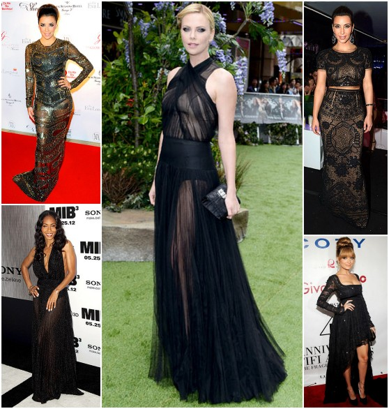 sheer black looks from celebs