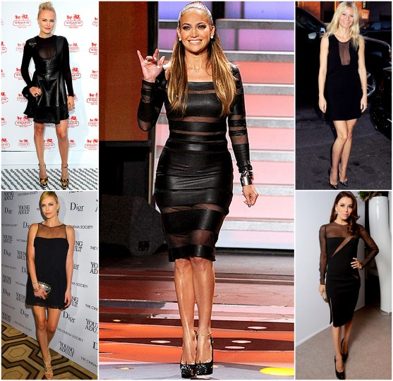 sheer dresses celebs