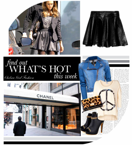 Hot This Week Rock Faux Leather Skirt!