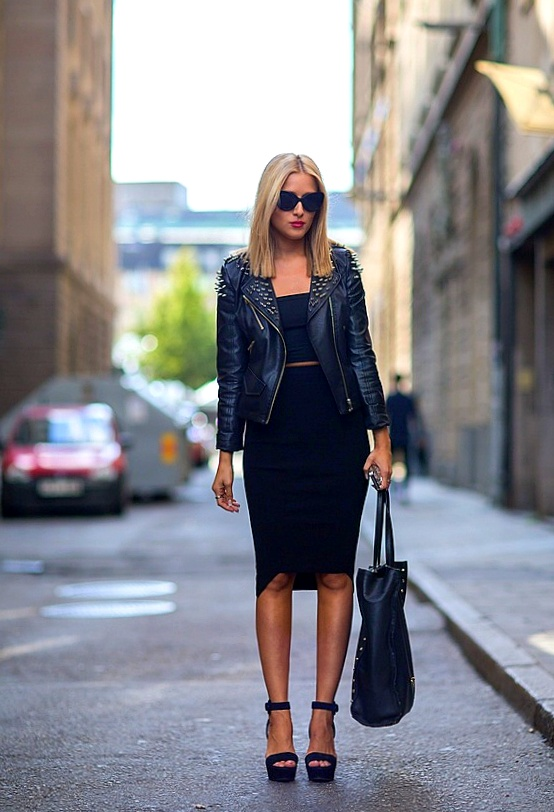 street style leather