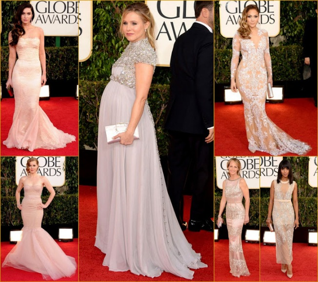 2013 70th Golden Globes blushing in Emblessiments & sheer Jennifer Lopez, Kristen Bell+Amy Adams fashion Red carpet