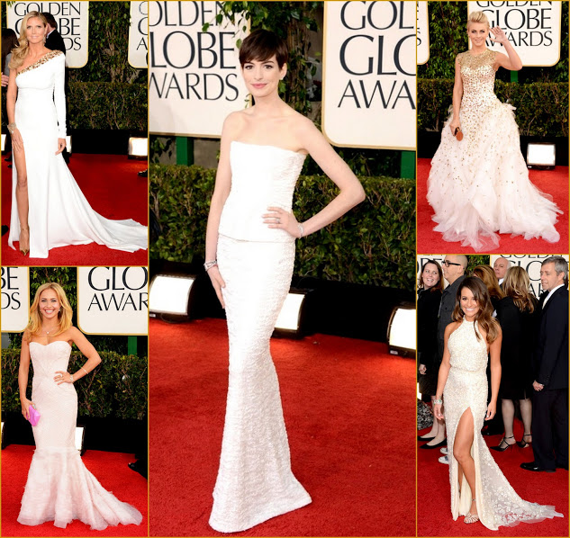 2013 70th Golden Globes Dressed All White Anne & Heidi & Hayden & Llea  & Julianne
