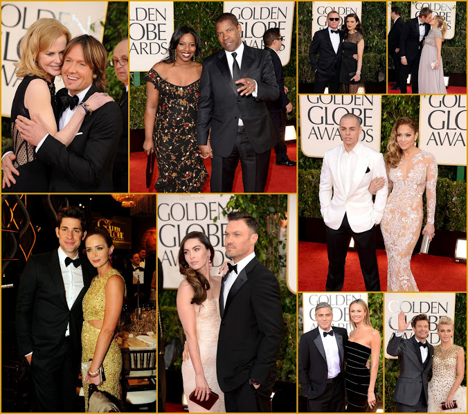 2013 70th Golden Globes Fab Duos +In California Globe Fashion
