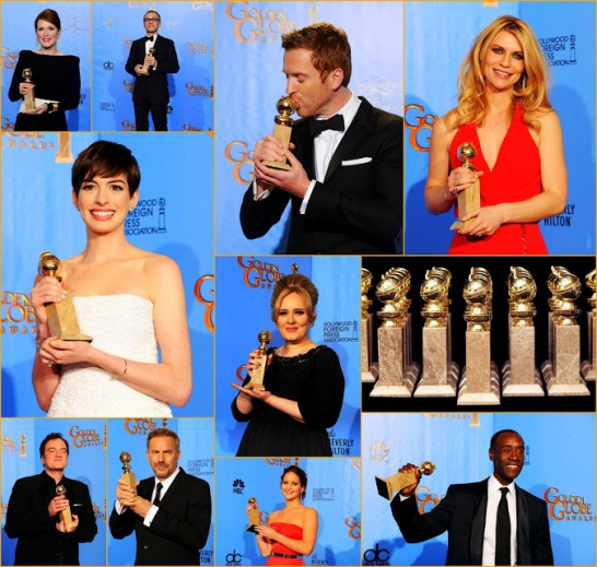 2013 70th Golden Globes Winners+In California Globe Fashion