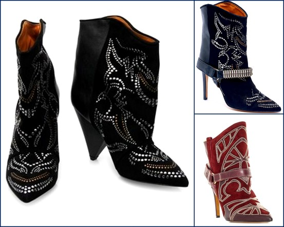 closeups of the new Fall 2012 Isabel Marant booties from the runway!