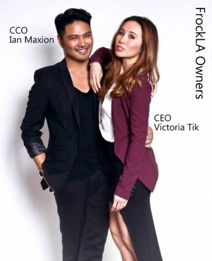 FROCK Los Angeles Ceo & Founder, Victoria Tik and CCO & Co-Founder, Ian Maxion