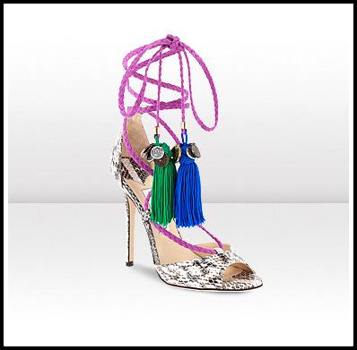 Gloss Elaphe Thong Sandals