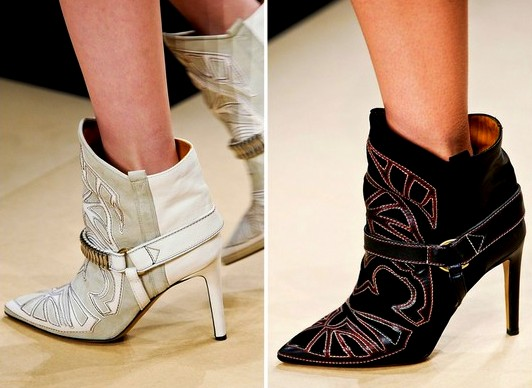Sea of Shoes for closeups of the new Fall 2012 Isabel Marant booties from the runway!