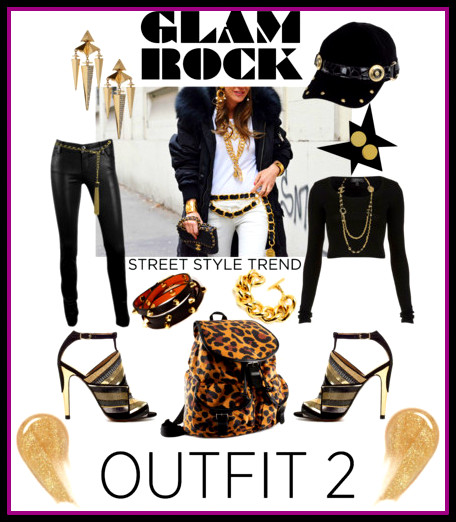 xGlam Rock Backpack Street Style!