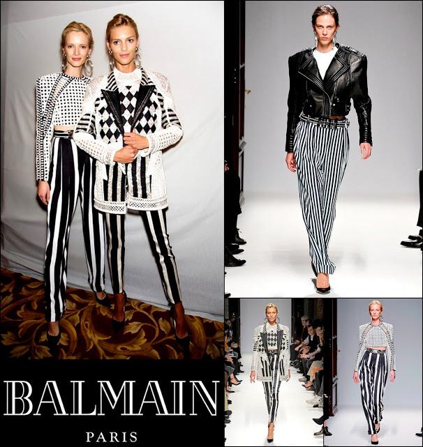 Balmain stripes spring 2013 rtw