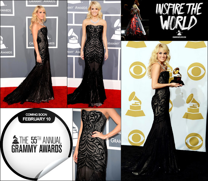 Carrie underwood 2013 award fashion roberto cavalli black