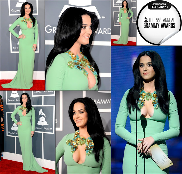 Gucci Katy perry 2013 grammy's award green