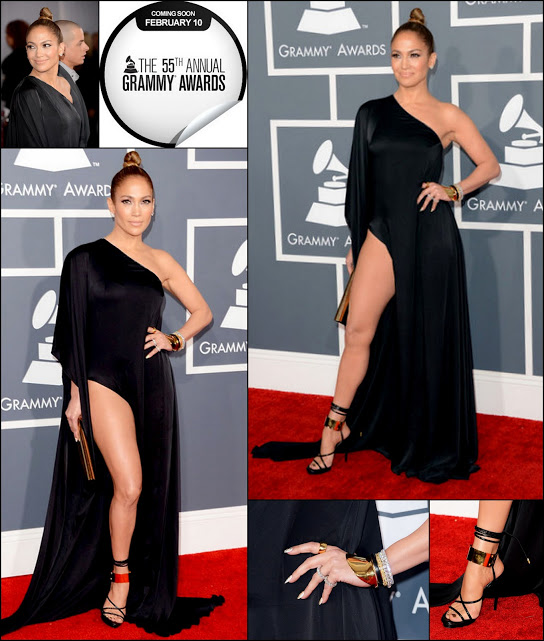 Jennifer lopez 2013 grammy awards leg dress zimbio