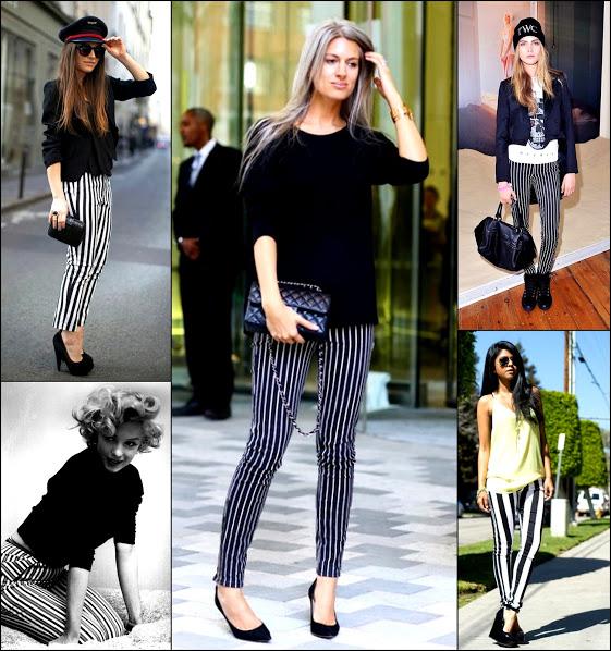 Striped jeans marliyan monroe stripes trendy 2013