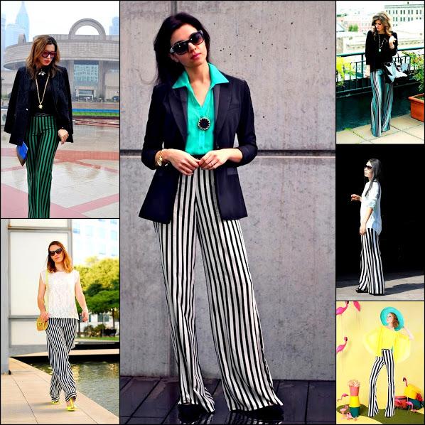 Striped pants trendy 2013