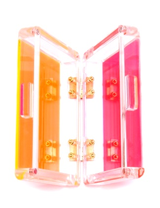 47lucite colorful clutch