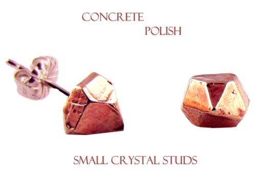 61d707571e6600bfc8e032e0b734143bConcrete Polish Small Crystal Studs - Rose Gold