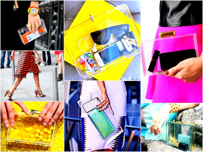 clear bags 2013 spring trend 1 lucite clutches