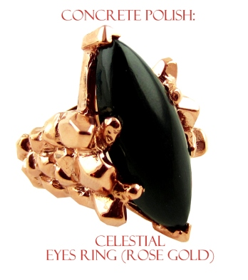 cop-0005Concrete Polish Celestial Eyes Ring - Rose Gold