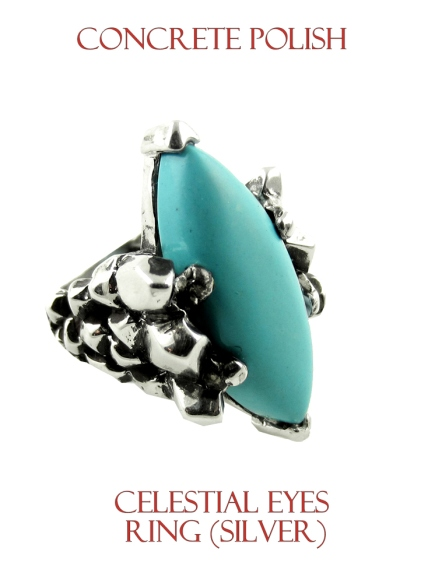 cop-0006Concrete Polish Celestial Eyes Ring - Silver