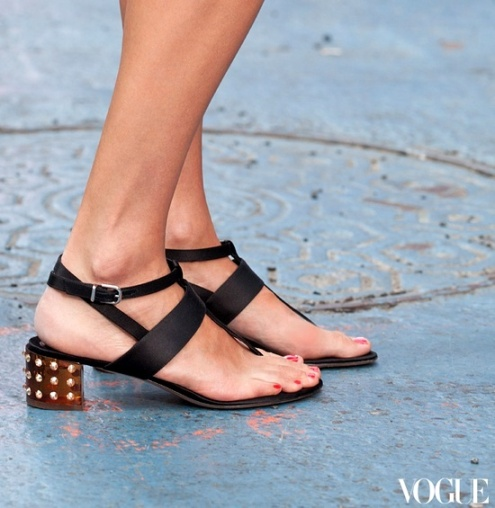 gianvito rossi sandals, love the studded low heel