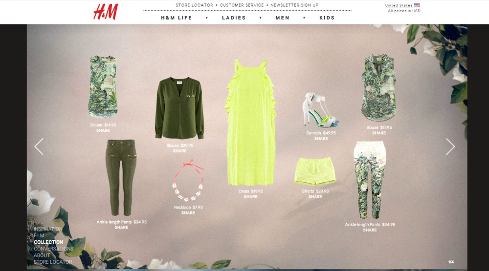 H&M green clothes 1
