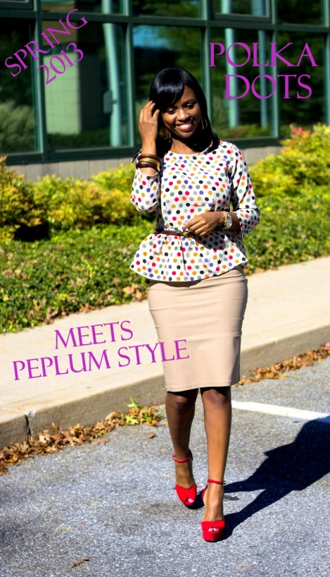 peplum wear polka dot