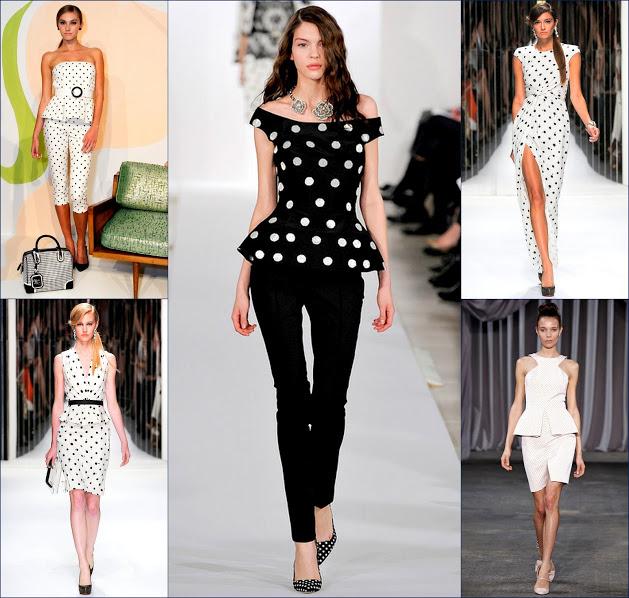 polka dot 2013 fashion runway oscar de la renta, jenny packham