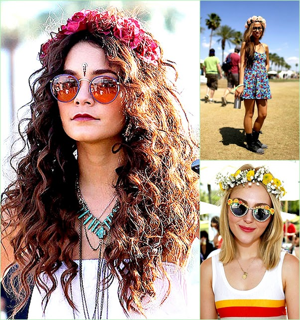 Look Back On Coachella 2013 floral Crowns Vanessa