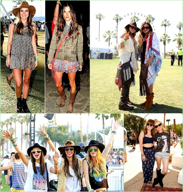 Look Back On Coachella 2013 fringe and friends