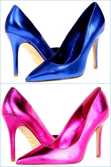 Pictures15Truth or Dare by Madonna Shoes, Halette Pumps Blue +Pink Mirror