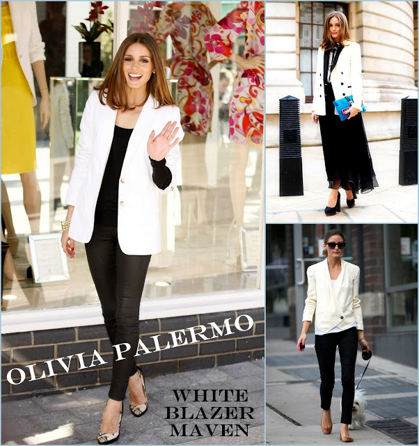 Olivia Palermo white blazers and streets style