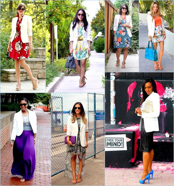 Classic white blazer and summer