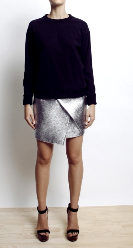 Ritual low waist wrap skirt - metalic
