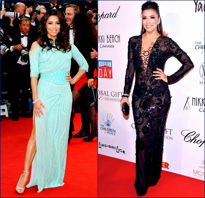 2 eva-longoria-cannes-2013 Versace at Cannes Film 2013 wardrobe and sheer dress at Cannes