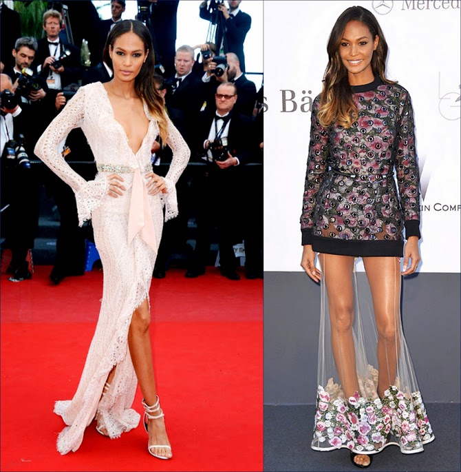 2 hbz Joan Smalls, in Emilio Pucci. Joan Smalls in Emilio Pucci at the Cannes Film Festival premiere for Cleopatra & Givenchy