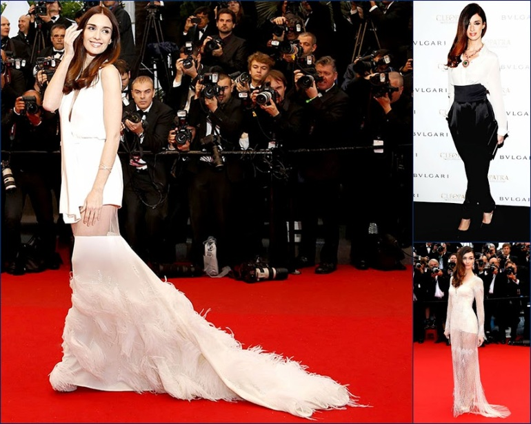 2 HBZ Paz+Vega+At 2013 Cannes Film Festival Wearing White Roberto Cavalli dress & Paz Vega in Alexandre Vauthier, white Stéphane Rolland Couture