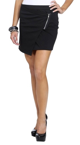 8a238fa7a741dec7ca1ce0801b2aa378Asymmetrical Wrap Mini Skirt - wetseal