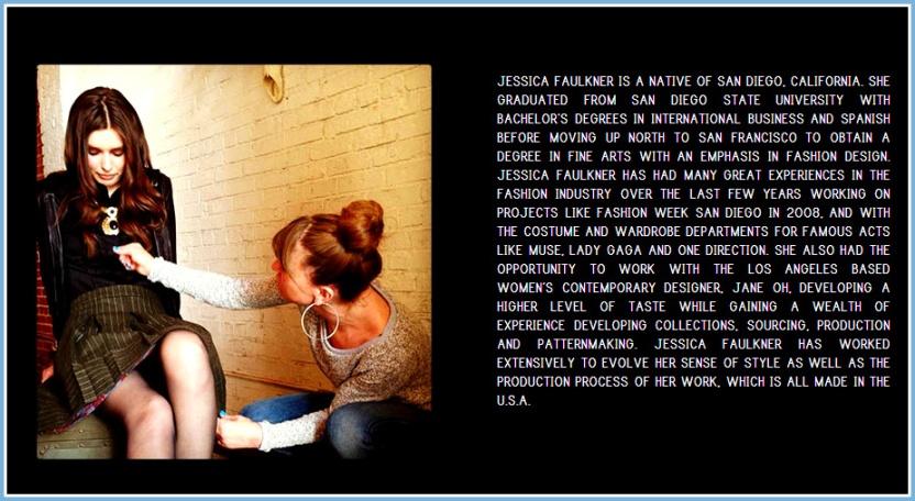 Jessica Faulkner designer bio
