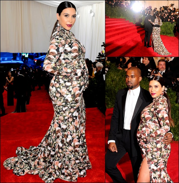 MET GALA 201340 Kim K. In flowers by Givenchy