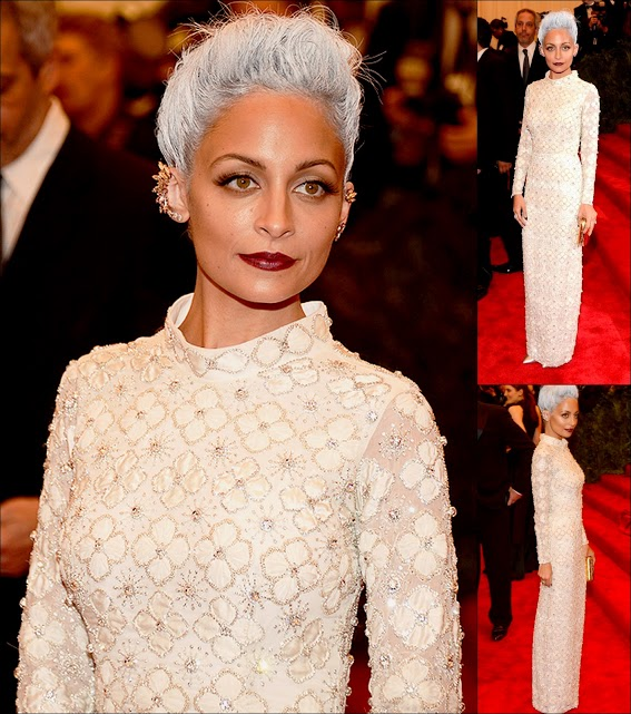 MET GALA 201363 Nicole richie in topshop and earrcuffs