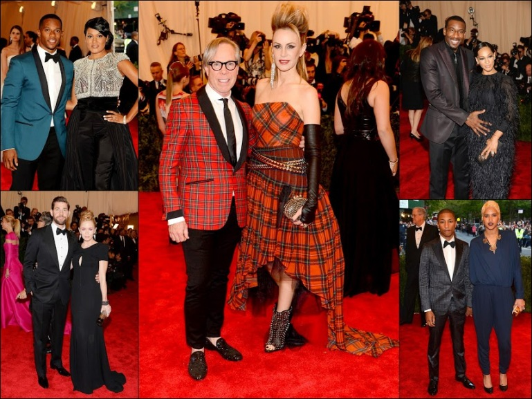 MET GALA 201371 fashion punk couples + Ralph Lauren+Pharrell+Emma + John+ Nba star New York Knicks Forward Amar'e Stoudemire (L) and Alexis Stoudmire