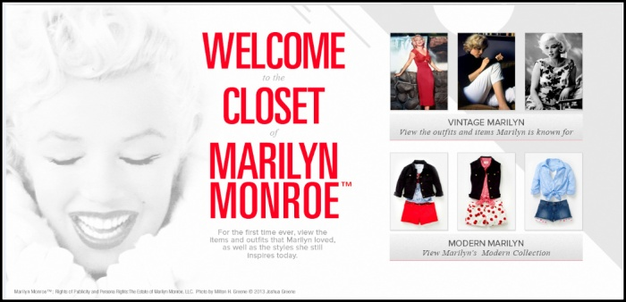 1. Marilyn Monroe closets - landing page.PNG