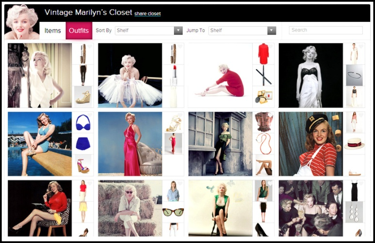 2. Vintage Marilyn  - outfits.PNG