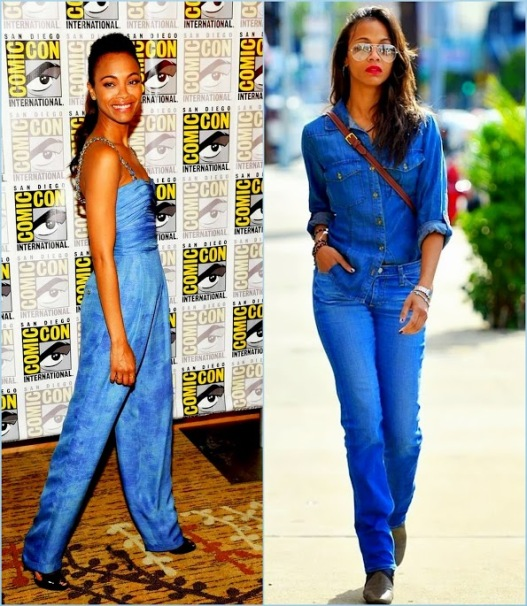 Collages Zoe Saldana Funky Denim style street