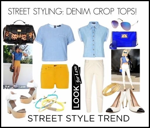 ImageProxyDenim Street Style Crop Tops